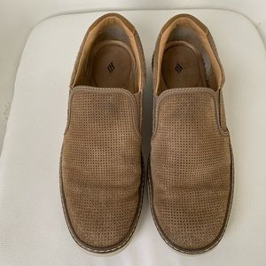 Joseph Abboud Size 12 Light Brown Suede Slip-ons
